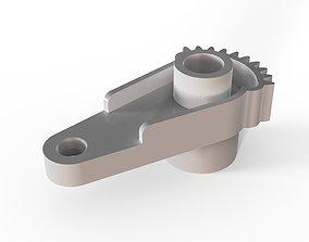 Black Heater Actuator Blend Cable Citroen 3D print model 4