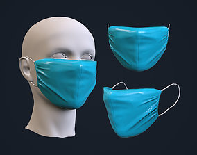 surgery Medical mask 3D asset game-ready