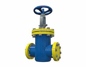 Industrial pipeline valve 4 3D model