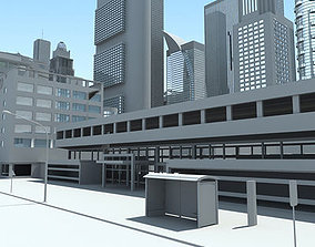 3D Full City Plan with Buildings