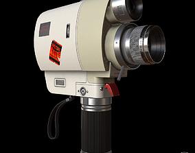 3D model Vintage Minolta 8mm camcorder Lowpoly