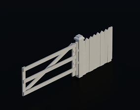 Fence 05 3D asset low-poly