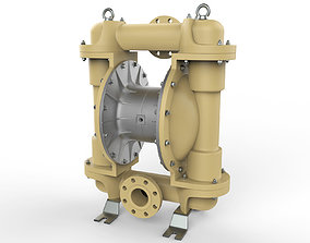 Pneumatic diaphragm pump 3D model