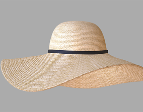 Straw sun hat 3D PBR