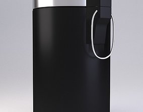 Black Pedal Bin 3D