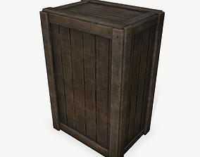 3D model VR / AR ready PBR Wooden Box