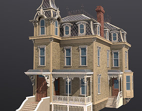 The Goerge Lord Little House 3D asset game-ready