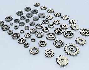 3D asset Gears Kit bash