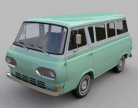 3D model FOR-D ECONOLINE E100 WINDOW VAN 1962 city
