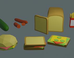 food low poly 3D model