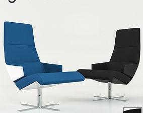 Christian Werner Torn Armchair 3D model