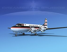 3D Douglas DC-4 Great Lakes Airlines