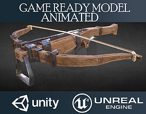 3D model Crossbow animated Unity Unreal Engine textures