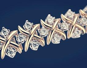 Bracelet 2 3D print model tiffany