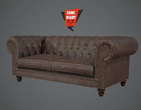 3D model Chesterfield PBR LowPoly Game Ready