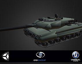 Leopard 2A6 3D model rigged STP
