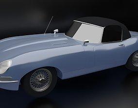 1966 Jaguar XKE Convertible convertible 3D print model