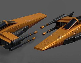 Spaceship starship futuristic spacecraft space 3D model 2