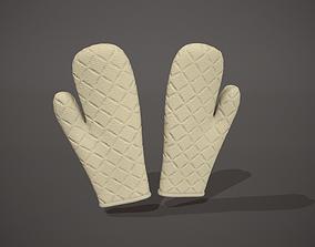 3D model Cream Oven Glove