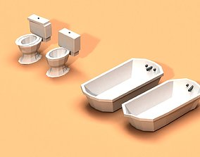 3D model Post Apocalyptic Toilet and Bath