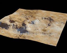 Planet Surface 3D model 2 Lod