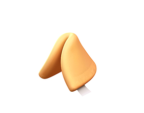 Fortune Cookie 3D model food