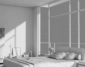 Modern Cozy Bed Room 3D model