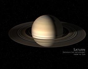 Saturn 3d max corona rander model 3D model animated