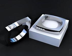 designer diamond ring 3D printable model