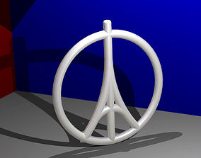 Peace Paris 3D print model