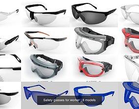3D model vision Safety glasses for worker