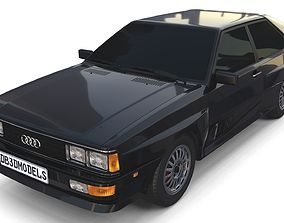 1981 Audi Coupe Quattro Black 3D