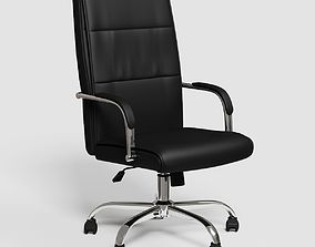 3D model Black executive office chair