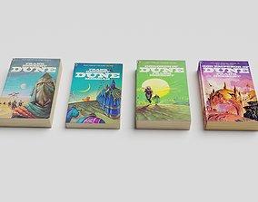 Dune Books Alien Planet Sci-Fi Fantasy 3D model