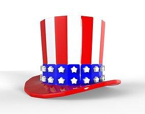 USA Hat 3D print model