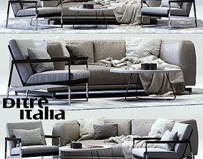 St Germain Sofa and Daytona Armchair 3D model