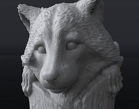 Hairpin Raccoone 3D printable model