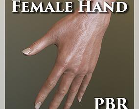 3D asset Female Hand PBR