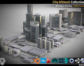 3D asset City Kitbash Collection Cityscape