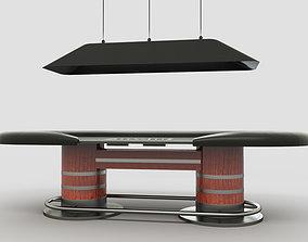 Poker Table 3D Model furniture