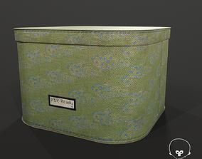 Designer Storage Box - used item 3D asset game-ready