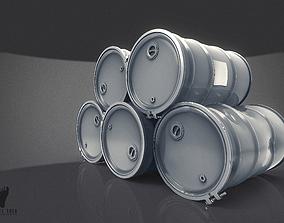3D model Steel Drum Barrels