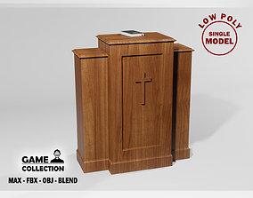 Church Podium 2 3D asset
