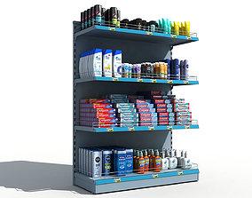 Supermarket Shelves Personal Hygiene 3D model