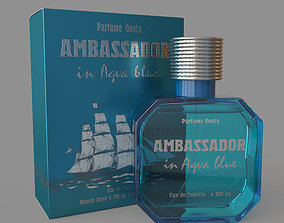 Ambassador in aqva blue 3D model