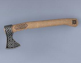 3D asset Slavic axe