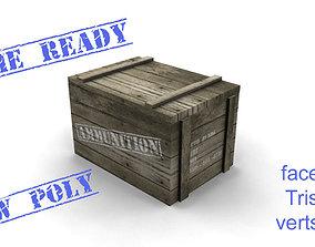 3D model Ammo box wood game ready
