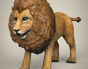 3D model Low Poly Realistic Lion