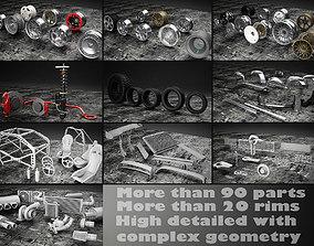 3D model Car tuning pack