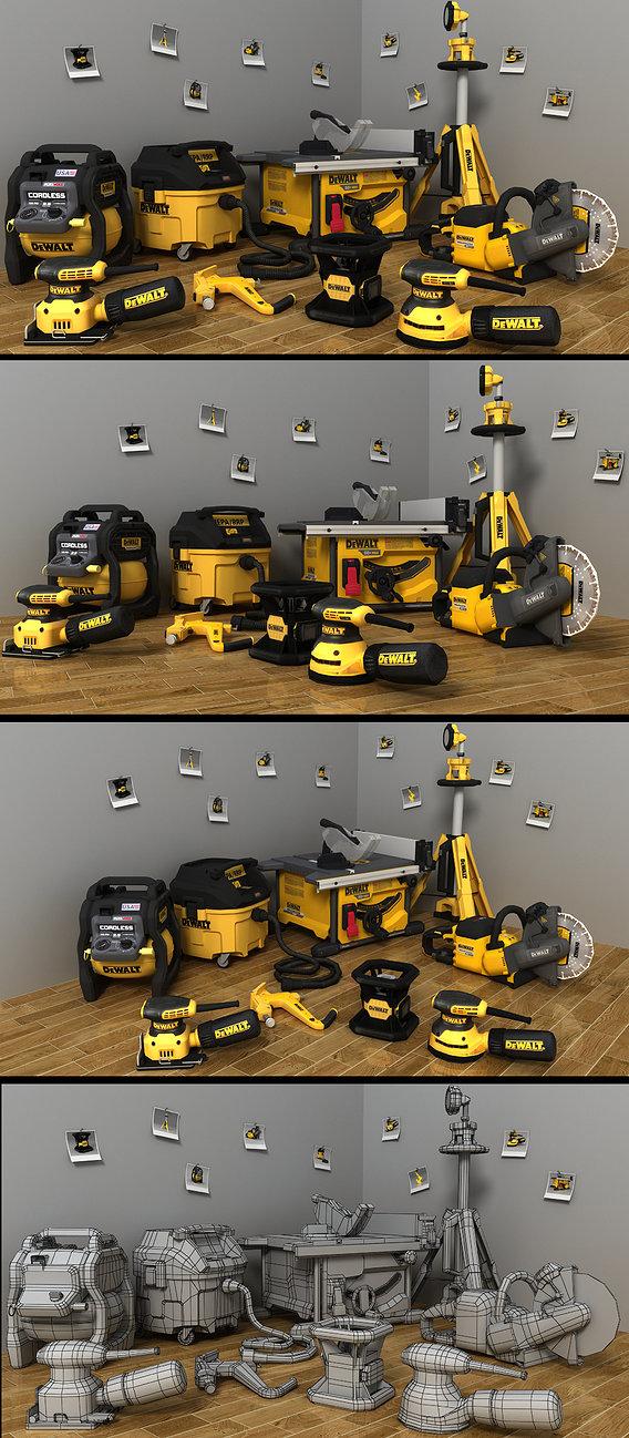 Dewalt 9 tools Part -2 Render